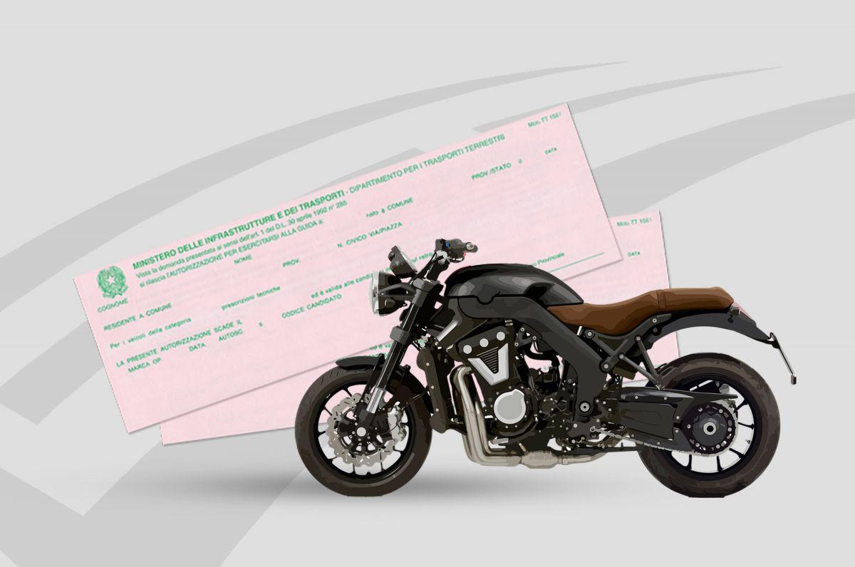 Patente moto, su che strade posso guidare con il foglio rosa?